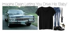 """""""Imagine Dean Letting You Drive His 'Baby'"""" by fandomimagineshere ❤ liked on Polyvore featuring Quiz, Monki, Avon and Whetstone Cutlery"""