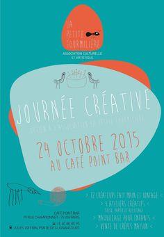 Journée Créative de La Petite Fourmilière Samedi 24 octobre 2015 au Café Point Bar 99 rue Championnet Paris 18e