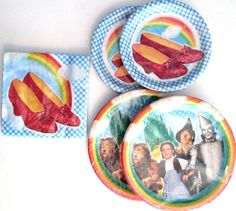 THE WIZARD OF OZ -Birthday Party Supply Kit w/16 Dinner,Dessert Plates