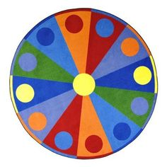 "Color Wheel Rug - Round (7' 7"" Diameter) by Joy Carpets and Co.. $307.99"