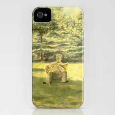 Man, Music and Nature iPhone Case by Vargamari - $35.00 - watercolor
