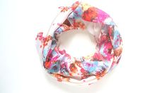 Floral Infinity Scarf Floral Scarf Spring by FashionelleStudio