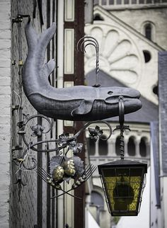 Love the whale on this old pub sign for Sunner im Walfisch Brauhaus in Cologne, Germany. They even included the water coming out of the spout.