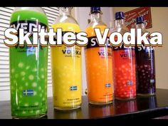 We've had several of our fans ask us how to make Skittles vodka, so we finally got our resources together to make it happen. Turns out, there is a whole science to making Skittles vodka or infusing candy and candy. The filtering part is the critical stage, and also where most of the work lies. Later this week, we'll post our video where we taste test this batch of homemade Skittles vodka and let you know what we think.