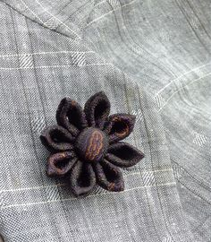 Custom Lapel Pins Mens Lapel Pin Flower Lapel Pin Daisy Gray Boutonniere Silk Lapel Flower Boyfriend Gift For Him Kanzashi Brooch Suit Pin by exquisitelapel on Etsy https://www.etsy.com/listing/198100900/custom-lapel-pins-mens-lapel-pin-flower