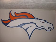 10 Denver Broncos Mural I Painted On Our Living Room Wall