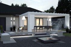 moderne-terrassenuberdachung-ideen-holz-tragwerk-weiss-gestrichen-gardinen