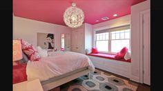 Bedroom ceiling in Sherwin Williams dragon fruit