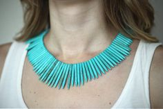 The Tribal Queen Necklace in Turquoise