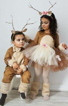 Little Girl Halloween Costumes, Halloween Costume Contest, Christmas Costumes, Baby Costumes, Diy Halloween, Halloween 2020, Costume Ideas, Girl Deer Costume, Halloween Decorations