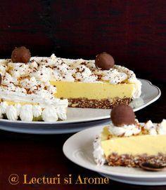 Prajitura cu blat de biscuiti si crema bavareza Romanian Desserts, Romanian Food, Eat Dessert First, Recipe For 4, Sweet Tooth, Bakery, Cheesecake, Deserts, Dessert Recipes