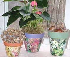 How to.....decoupage a terracotta pot