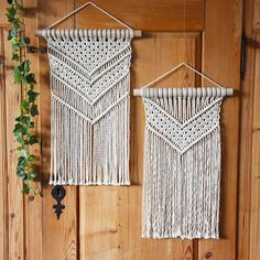 TamarThings macrame wall hangings, sisters not twins