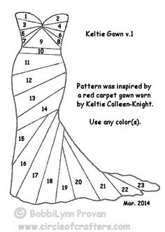 "March, 2014 Challenge: ""Keltie Gown"" by BobbiLynn - Circle Of Crafters"