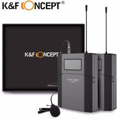 K&F CONCEPT DSLR Camera Microphone 70M Remote Video Wireless Lavalier Microfone Low Noise MIC Receiver+ Transmitter for Cameras //Price: $98.73//     #shop