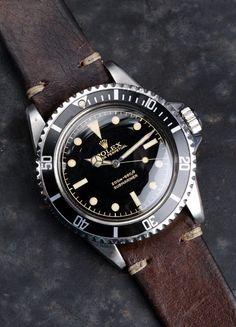 thingslooksgood: vintage Rolex Submariner ref.5512 Gilt 1962