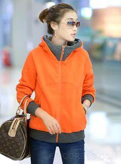 New Arrival Gorgeous Zipper Hooded Korean Thicken Outwear   4