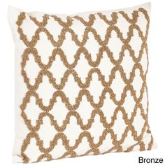 Beaded Design Down Filled Throw Pillow - Overstock™ Shopping - Great Deals on Throw Pillows