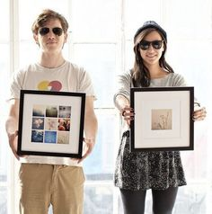 Try the app Printstagram. The prints come expertly framed in the frame color of your choice, ready to hang, and the app is incredibly simple to use.