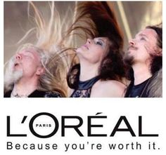 Funny hair commercial featuring Nightwish? It should be a thing!
