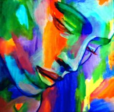 "Buy ""Inner strength"", a Acrylic on Canvas by Helena Wierzbicki from Argentina. It portrays: People, relevant to: online gallery, beautiful, helena wierzbicki, woman, canvas painting, portrait art, expressionist art, bold colors, abstract portraiture, art portraits, affordable paintings for sale Abstract Art Portrait Painting  Medium: Acrylic on canvas  Size: 23x23 in."