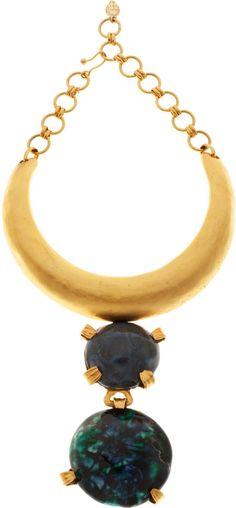 Yves Saint Laurent vintage ceramic & metal necklace