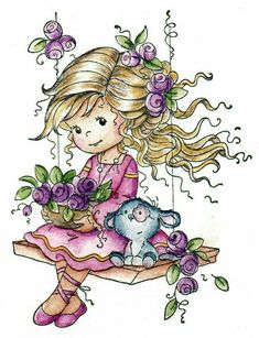 Whimsy Stamps, Digi Stamps, Cartoon Pics, Cute Cartoon, Beautiful Handmade Cards, Christmas Embroidery, Illustrations, Card Making Inspiration, Coloring Pages