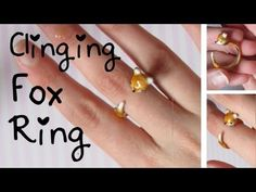 "Clinging Fox Ring Tutorial: Polymer Clay ""Illusion"" Ring."