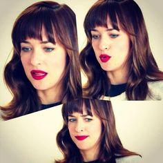 Dakota Johnson and red lips