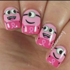 So cute pinks Minions for Brest cancer awareness month.