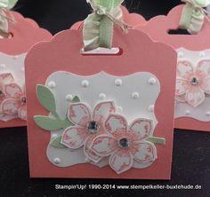 13.1.2014 Stempelkeller Buxtehude: Stampin'Up! tag topper, Curly Label, Petite Petals (nur ABb., keine Beschriebung)
