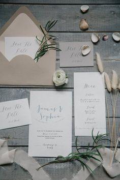 Свадебная полиграфия в сером цвете