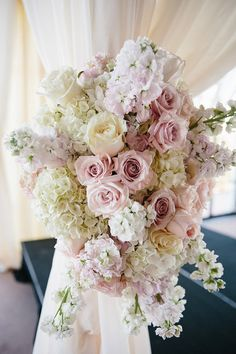 Alter Decor | White Roses | Pink Roses | Peonies | White linens | Marquee Event Group | Westbank Flower Market | Omni Barton Creek Resort & Spa | Stefano Choi Photography | Pearl Events Austin