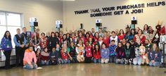 The staff at our Goodwill Store & Donation Center in Round Lake Beach, IL show off their best holiday sweaters!