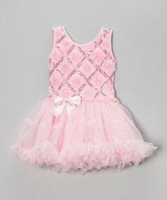 Pink Sequin Rosette Tutu Dress - Infant, Toddler & Girls $19.99 by Zulily