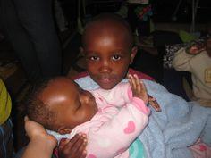 Alan is holding his little brother Emanuel. #volunteer #kenya #africa #kids #children #orphanage