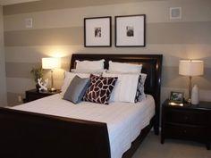 Striped wall-bedroom-elegant
