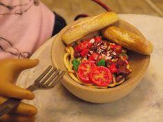American Girl Doll Spaghetti Dinner with by LifeInOneThirdScale