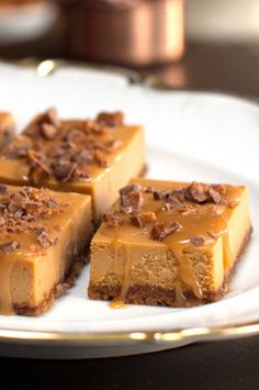 Triple-Caramel Cheesecake — Triple the flavor means triple the work? Think again! The hardest part of this easy dessert recipe is waiting for it to completely cool in the refrigerator.