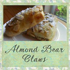 Gloriously Made: Almond Bear Claws Breakfast Dessert, Dessert For Dinner, Eat Dessert First, Lemon Desserts, Fun Desserts, Dessert Recipes, Fall Recipes, Real Food Recipes, Bear Claws
