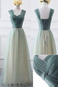 Green Tulle Charming Bridesmaid Dress, Lovely Party Dress Formal Dress on Luulla Party Dresses For Women, Ball Dresses, Ball Gowns, Evening Dresses, Cute Homecoming Dresses, Bridesmaid Dresses, Prom Dresses, Formal Dresses, Dress Prom