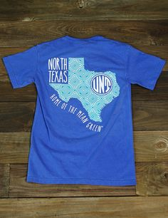 Welcome to the home of the Eagles! Show your love for your University of North Texas Mean Green in this awesome new UNT Comfort Color t-shirt! Go UNT MEAN GREEN!