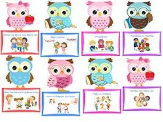 """Cute Owl"" Class rules - New Deko Sites Owl Classroom, Classroom Rules, Classroom Organization, Preschool Education, Kindergarten Crafts, Class Rules, School Labels, School Grades, Class Decoration"