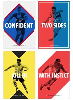 Use of colors Play like a football master by Emilio Sansolini, via Behance