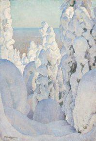 One of Pekka Halonen's winter landscapes.