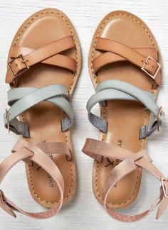 Mixed Strappy Sandals