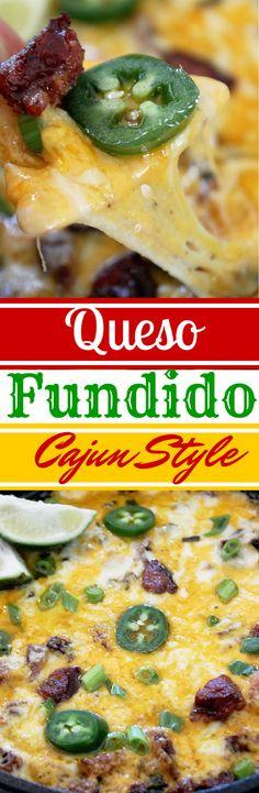Queso Fundido Cajun Style-Creole Contessa