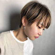 Pin by eve on Makeup Infired Pixie Cut Color, Cut And Color, Hair Up Styles, Girl Short Hair, Love Hair, Short Cuts, Up Hairstyles, New Hair, Hair Cuts