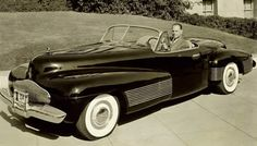 """World's First Concept Car (1938): Buick Y-Job ~ Designed in 1938 by the famous General Motors designer Harley Earl, the Buick Y-Job is considered by most to be the first concept car. The car had power-operated hidden headlamps, """"gunsight"""" hood ornament, wraparound bumpers, flush door handles, and prefigured styling cues used by Buick until the 1950s."""