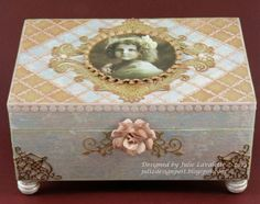 #cheeryld Todays project is a Keepsake box that I intend to keep little memories my children made or gave me as they were growing up. Dies used:  FRM132 French Lattice Small Frame Die; B165 Lace Corner Deco E; DL151 Victorian Romance Flourish; B215 Expandable Tiny Borders; B387 Tiny Fanciful Flourish Left and Right; B339 Gardenia Strip; FRM135 Swedish Spring Oval Frame; B151 Cuties 3; B179 Iris Leaves http://www.cheerylynndesigns.com